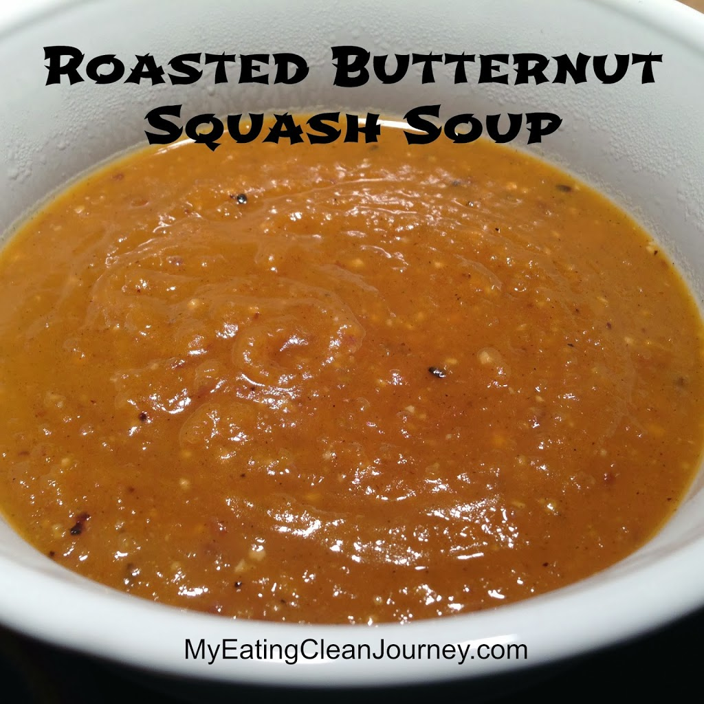 Roasted Butternut Squash Soup (with lots of garlic and red onions ...