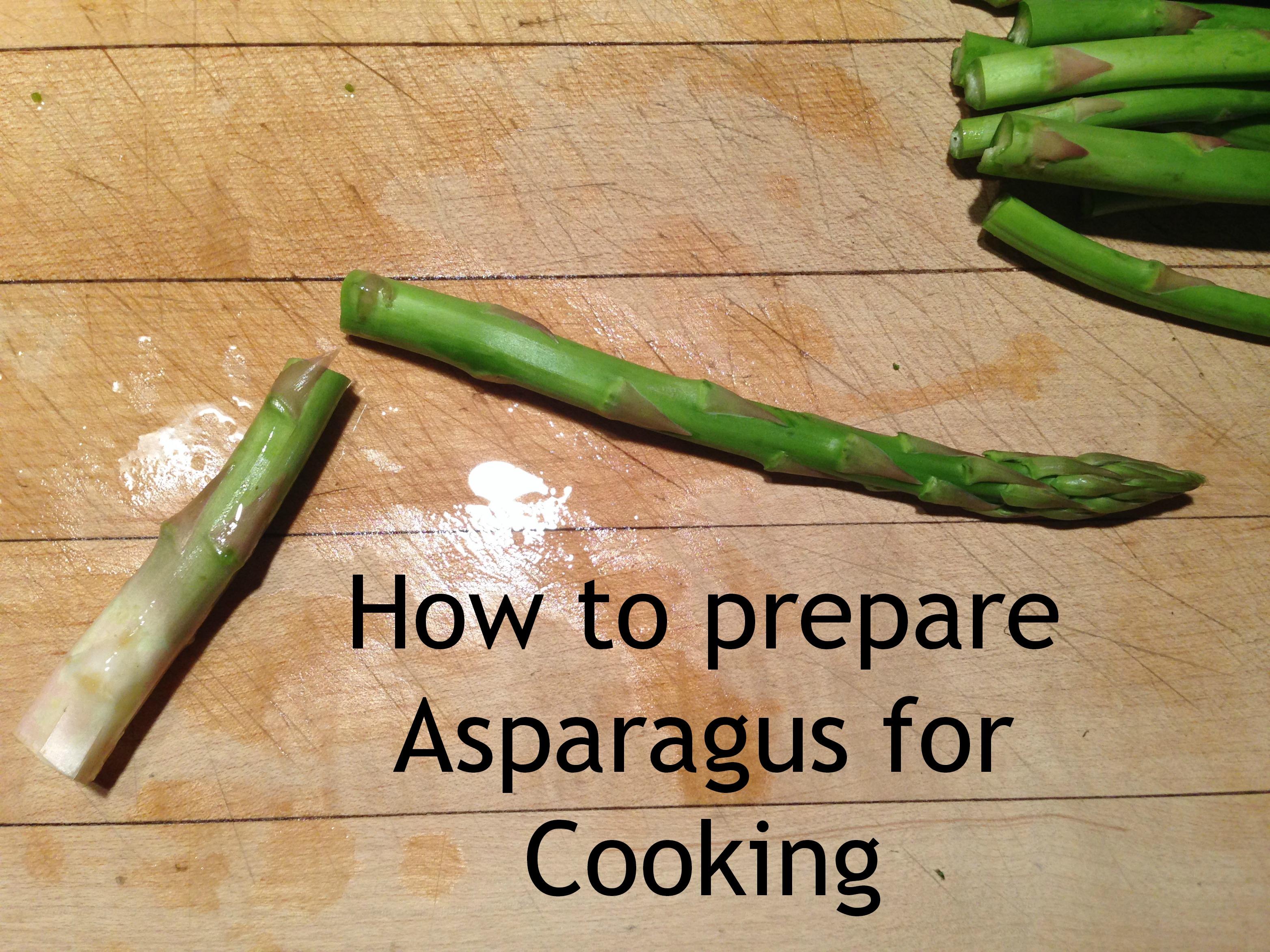 Asparagus Preparing