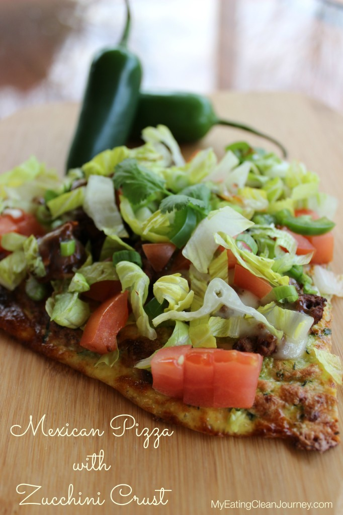 mexican pizza with zucchini crust