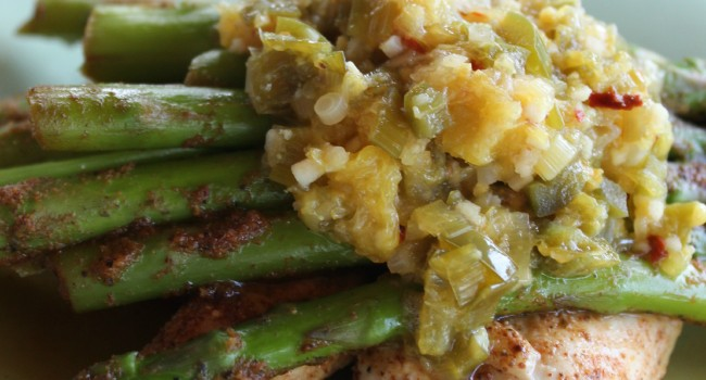 Spicy Orange Chicken and Asparagus